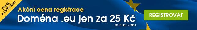 Registrace domény .eu za 25 Kč/rok
