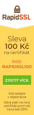 RapidSSL sleva 100 Kč na nový certifikát